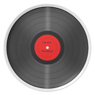 メリーなレコードのプレートが食べ、あって下さい ディナープレート