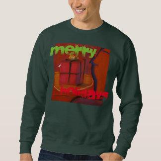 メリーな休日の人の醜いセーターのスエットシャツ スウェットシャツ