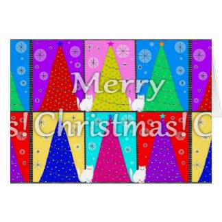 メリーな子猫のクリスマスカード カード