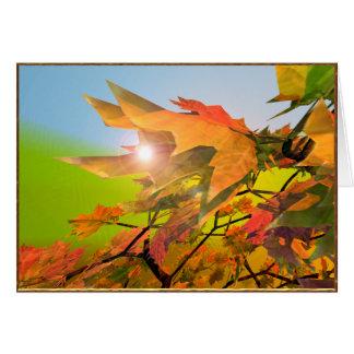 メリーな秋のかえでの葉 グリーティングカード