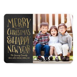 メリーな願い編集可能色のクリスマスの写真カード カード