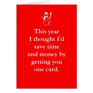 メリーなBirthmas 12月のクリスマスのバースデー・カード カード