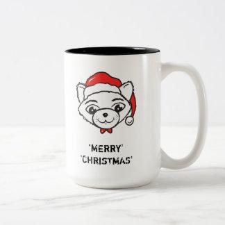 メリーなCATmas皆-メリークリスマス猫 ツートーンマグカップ