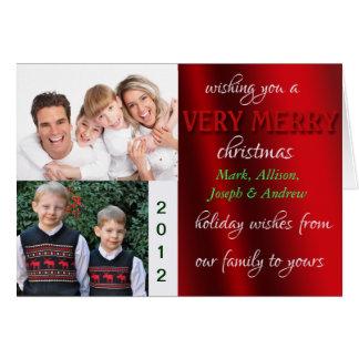 メリーなCristmasの写真カード カード