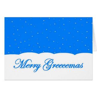 メリーなGreecemas -あなたのメッセージを中カスタマイズ カード