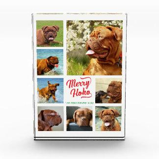 メリーなHo Ho家族写真のコラージュのテンプレート フォトブロック