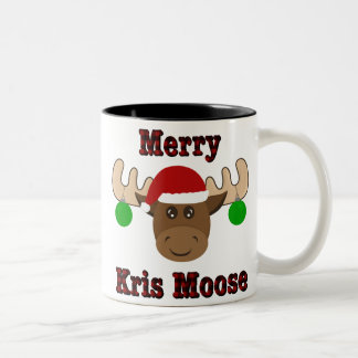 メリーなKrisのアメリカヘラジカのクリスマスのツートーンマグ ツートーンマグカップ