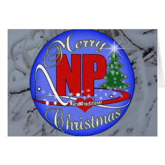 メリーなNPのクリスマス-ナースの従業者 カード