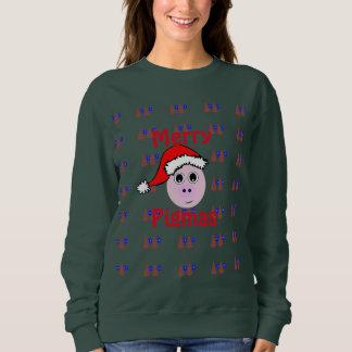 メリーなPigmasの醜いクリスマスのセーター スウェットシャツ