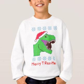 """""""メリーなTレックスMas""""のクリスマスのフェスティバルの恐竜 スウェットシャツ"""