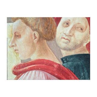 メリーの提示からの2人の頭部 キャンバスプリント