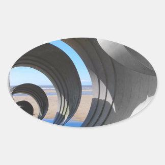 メリーの貝 楕円形シール
