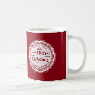 メリークリスマスおよび幸せなnewyear コーヒーマグカップ