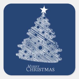 メリークリスマスおよび幸せなnewyear スクエアシール