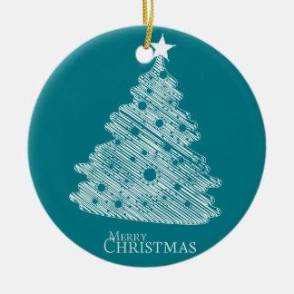 メリークリスマスおよび幸せなnewyear セラミックオーナメント