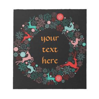メリークリスマスおよび幸せなnewyear ノートパッド
