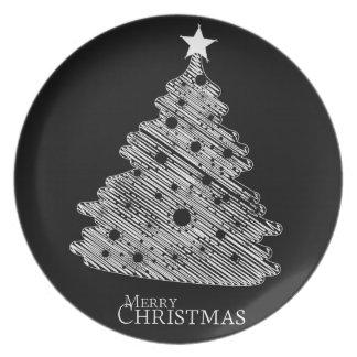 メリークリスマスおよび幸せなnewyear プレート