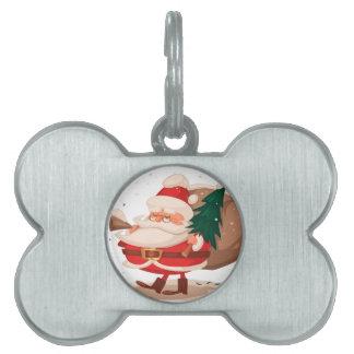 メリークリスマスおよび幸せなnewyear ペットネームタグ