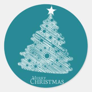 メリークリスマスおよび幸せなnewyear ラウンドシール