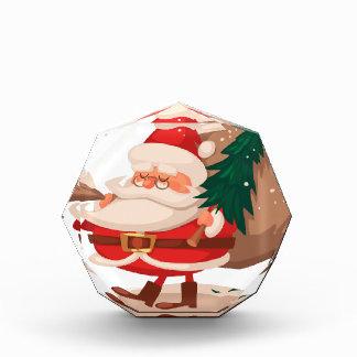 メリークリスマスおよび幸せなnewyear 表彰盾
