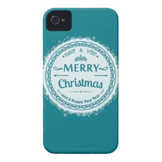 メリークリスマスおよび幸せなnewyear Case-Mate iPhone 4 ケース