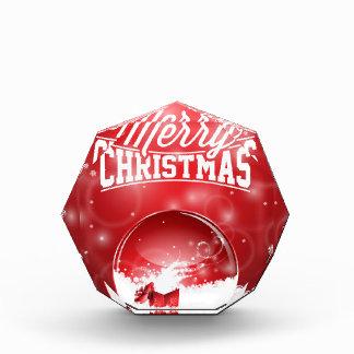 メリークリスマスおよび明けましておめでとうのタイポグラフィ 表彰盾