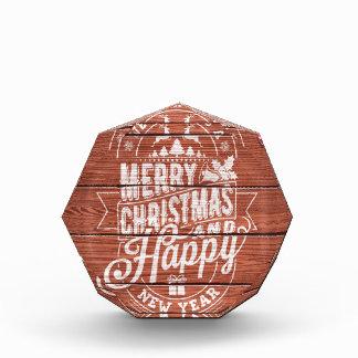 メリークリスマスおよび明けましておめでとうの活版印刷 表彰盾