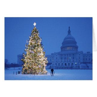 メリークリスマスおよび明けましておめでとう グリーティングカード