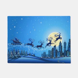 メリークリスマスおよび明けましておめでとう ドアマット