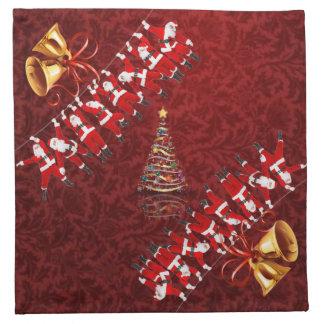 メリークリスマスおよび明けましておめでとう ナプキンクロス
