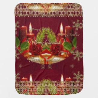メリークリスマスおよび明けましておめでとう ベビー ブランケット