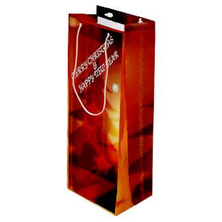 メリークリスマスおよび明けましておめでとう ワインギフトバッグ