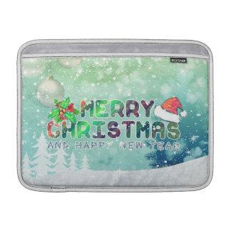 メリークリスマスおよび明けましておめでとうMacBookはsleを乾燥します MacBook スリーブ