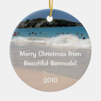 メリークリスマスからの、美しいバミューダ島! セラミックオーナメント