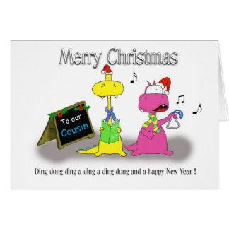 メリークリスマスのいとこ カード