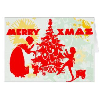 メリークリスマスのおばあさん カード