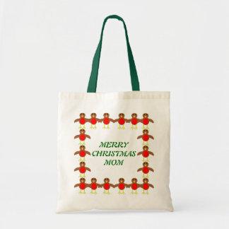 メリークリスマスのお母さんのカスタムなロビンのギフトバッグ トートバッグ