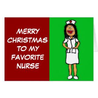 メリークリスマスのお気に入りのなナース カード