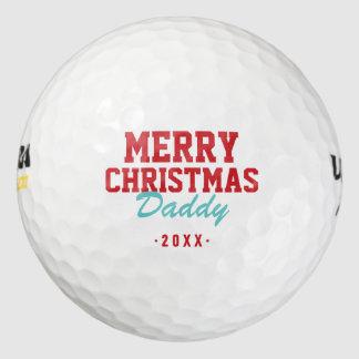 メリークリスマスのお父さんのゴルフ・ボール ゴルフボール