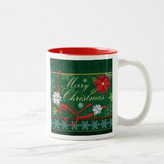 メリークリスマスのお祝いのクリスマスのプレゼントのマグ ツートーンマグカップ
