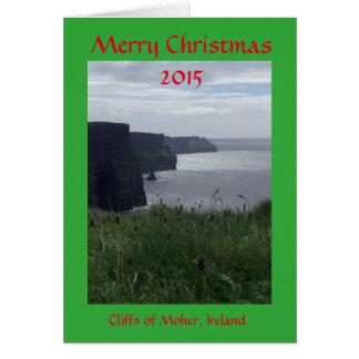 メリークリスマスのアイルランドの休日の挨拶状 カード