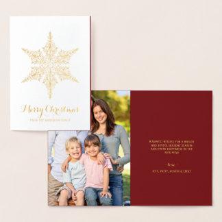メリークリスマスのエレガントなヴィンテージの雪片 箔カード