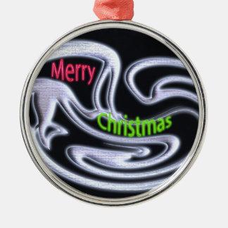 メリークリスマスのオーナメント メタルオーナメント