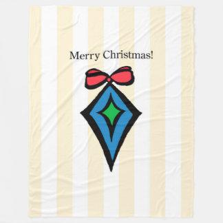 メリークリスマスのオーナメントLGのフリースブランケットYel フリースブランケット