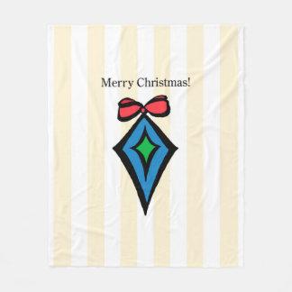 メリークリスマスのオーナメントMed。 フリースブランケットYel フリースブランケット