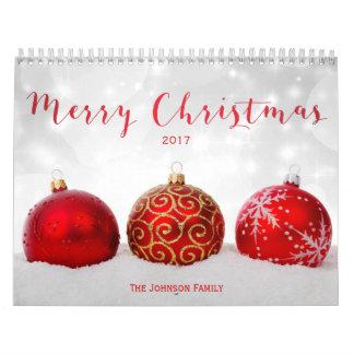 メリークリスマスのカスタムな写真のカレンダー2017年 カレンダー