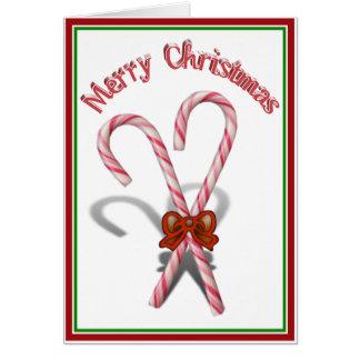 メリークリスマスのキャンディ・ケーン カード