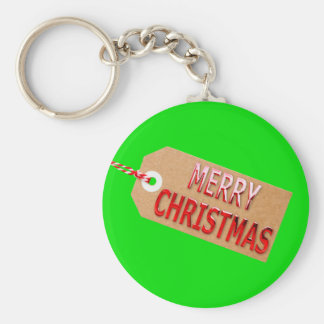 メリークリスマスのギフトのラベルのキーホルダー キーホルダー