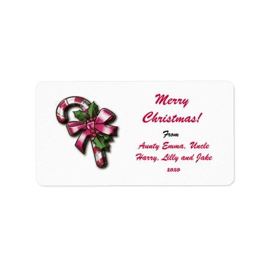 メリークリスマスのギフトのラベルのラベル-名前入りな名前 ラベル