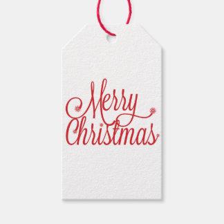 メリークリスマスのギフトのラベル ギフトタグ